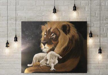 Artist and SOHO Scottsdale resident Hunter Lock (L). Lock's artwork in his SOHO studio (R)-img02